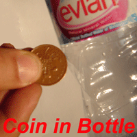 Coin in A bottle
